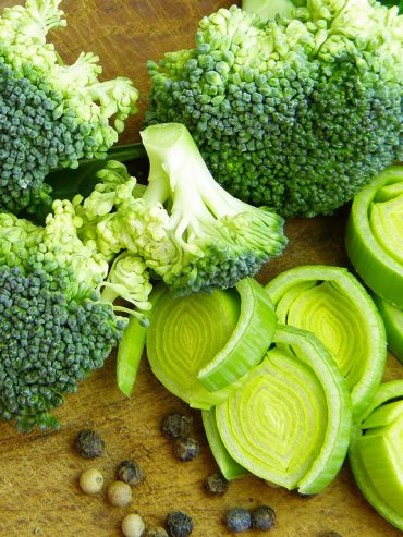 zalios daržovės akims
