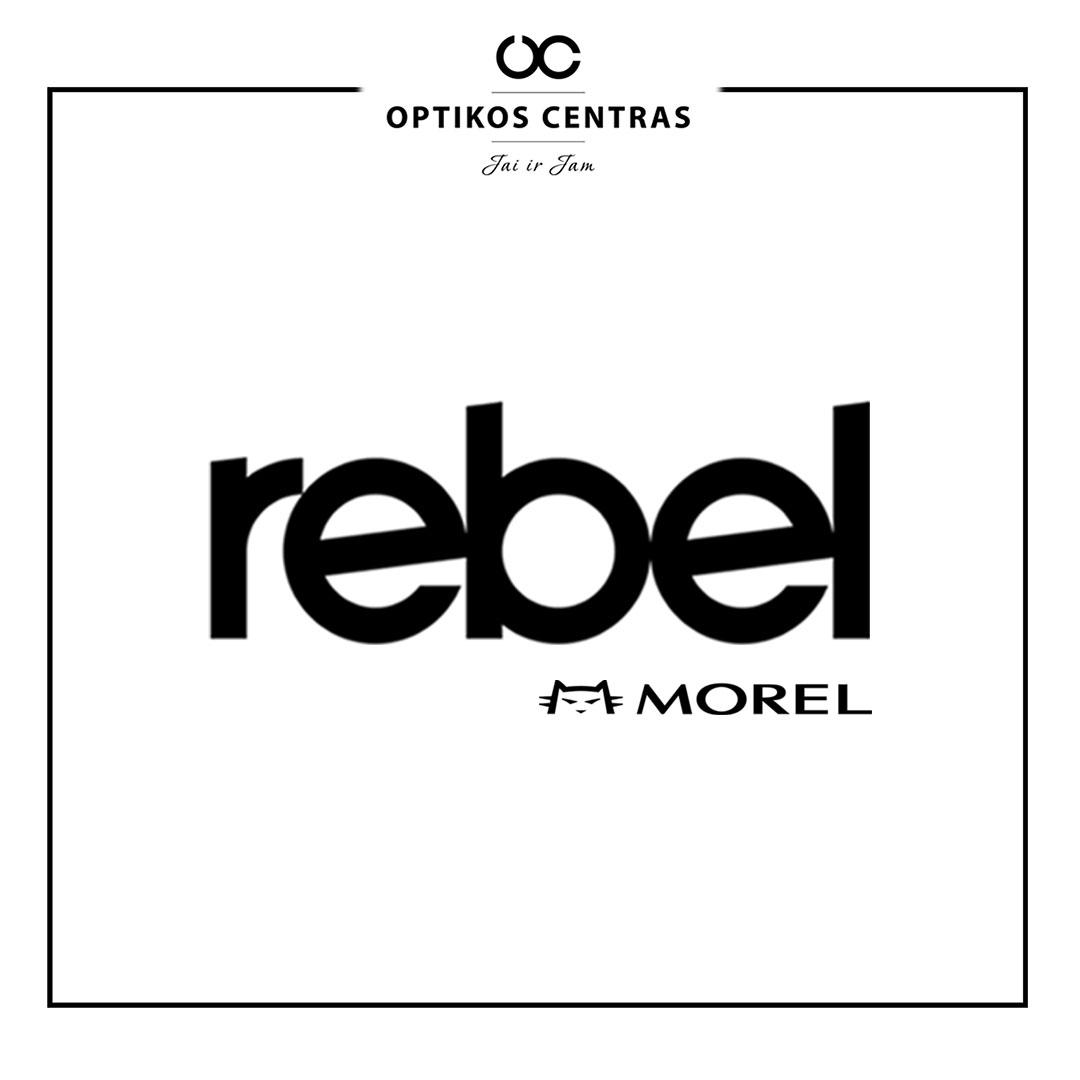 rebel akinių rėmelių prekinis ženklas