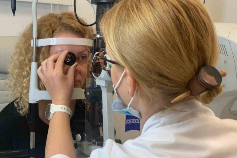 Akių patikra pas optometrininką
